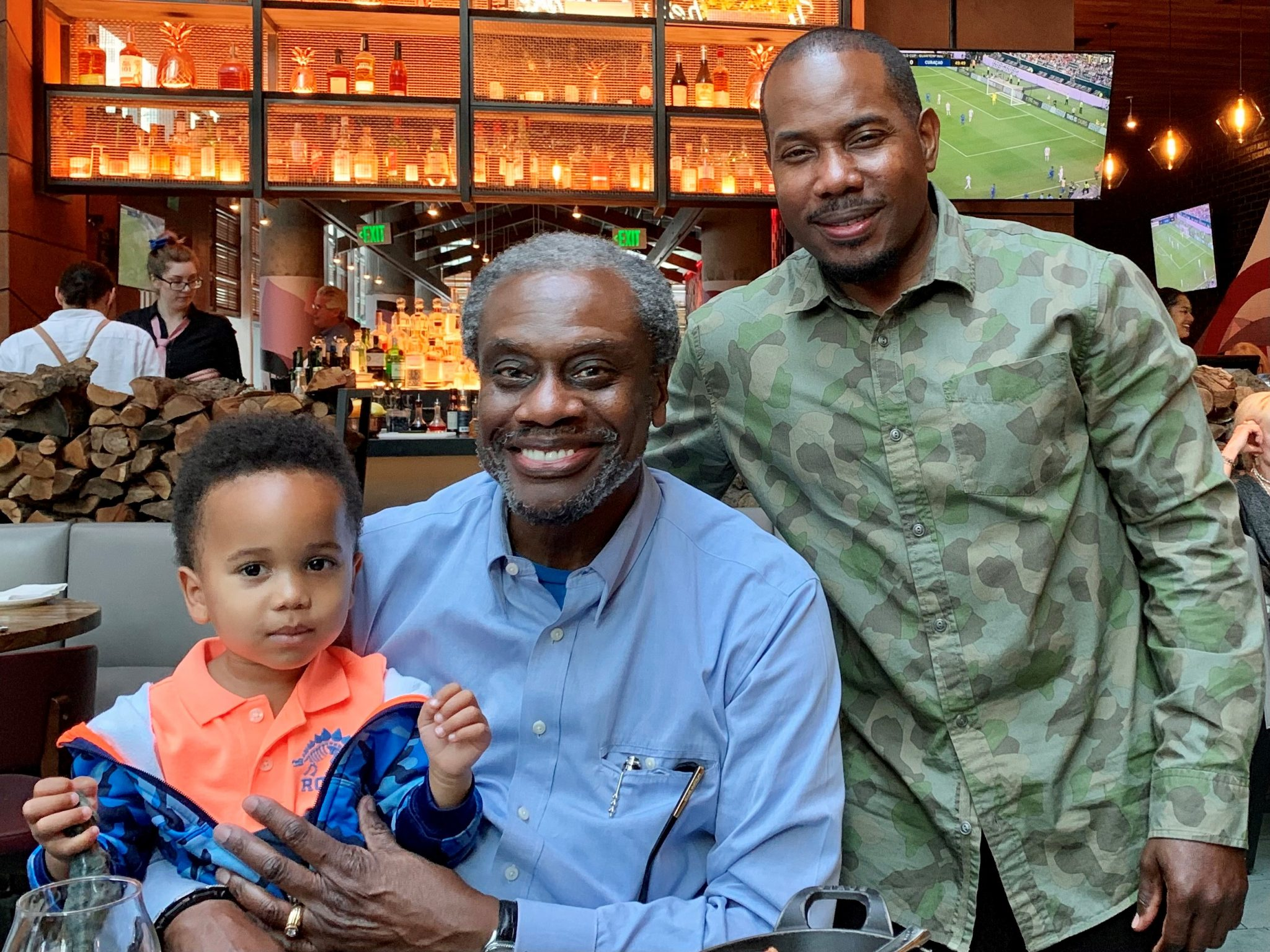 Board member Anthony Ewell with his uncle Larry Tripplett and son Anden