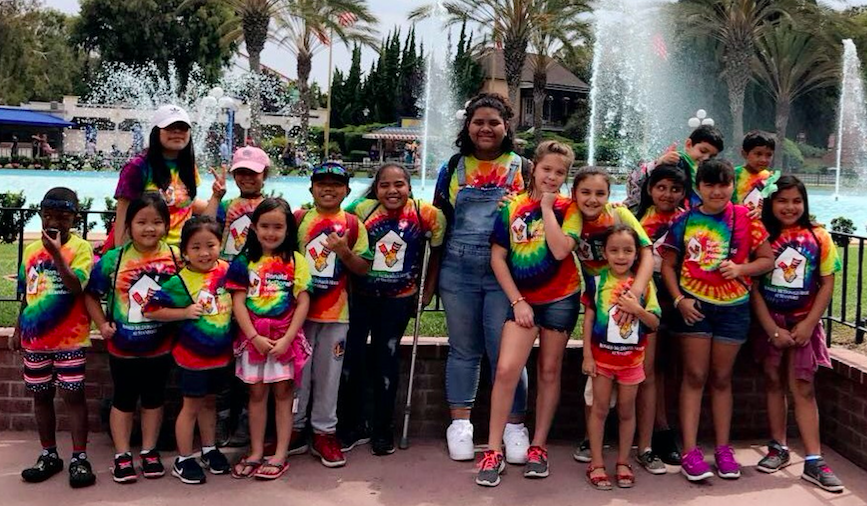 Campers enjoy an outing at Great America