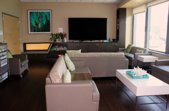 Our in-hospital family room offers a space for parents to relax